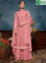 Pink Color Chinon Fabric Embroidered Sequance Hand Work Designer Palazzo Suit