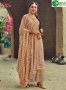 Grey Color Faux Georgette Fabric Embroidered Resham Work Designer Palazzo Suit