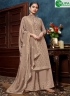 Brown Color Chinon Fabric Embroidered Sequance Hand Work Designer Palazzo Suit