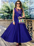 Blue Color Art Silk Fabric Resham Embroidered Work Designer Readymade Gown
