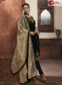 Black Color Georgette Fabric Embroidered Resham Work Designer Party Straight Suit