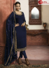 Blue Color Georgette Fabric Embroidered Resham Work Designer Party Straight Suit