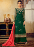 Green Color Georgette Fabric Resham Embroidered Work Designer Palazzo Suit
