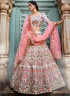 Off White Color Georgette Fabric Resham Embroidered Work Designer Party Wear Lehenga Choli