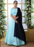 Turquoise Color Georgette Fabric Resham Embroidered Work Designer Party Wear Lehenga Choli