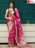 Pink Color Silk Fabric Weaving Designer Traditional Party Wear Saree