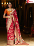 Red Color Silk Fabric Weaving Designer Traditional Party Wear Saree